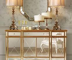 Accent Living Room Tables A Mirrored Console Table Becomes An Eye Catching Living Room