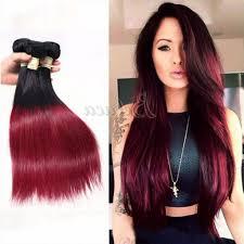 dyed weave hairstyles burgundy weave hair 3 bundles two tone colors 1b burgundy hair dyed