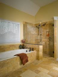 bathroom tile layout ideas cylinder gold modern copper faucet