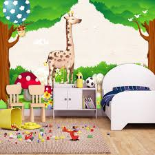wall murals kids rooms promotion shop for promotional wall murals custom 3d photo wallpaper green forest cartoon animal kingdom wall decoration kids room bedroom background wall mural wallpaper