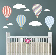 Wall Decoration With Balloons by Kids Wall Decal Air Balloons Baby Decor Gender Neutral