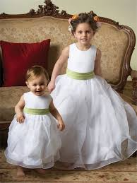 gown scoop tea length white organza toddler flower dress with