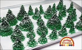 piped royal icing fir trees