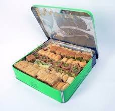 pastry gift baskets luxury baklava pastry gift basket in tin box 60 oz hallab 1881