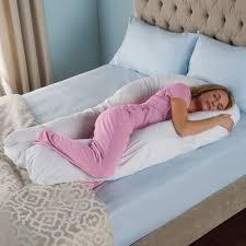 big bed pillows the total body support pillow hammacher schlemmer