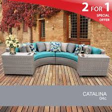 Modular Wicker Patio Furniture - 4 piece wicker sofa set grey curved wicker sofa