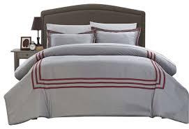 chic sigrid paige modern hotel collection 3 piece duvet cover set