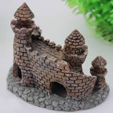 shop cat bowls feeders aquarium castle ornament castle
