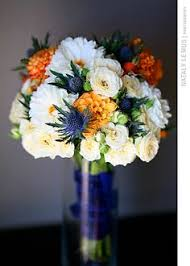 Wedding Flowers Blue A Rustic Blue And Orange Wedding By Sarah Rose Burns Photography