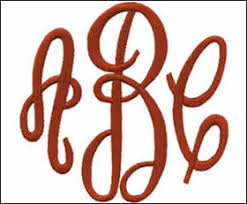 3 initial monogram fonts embroidery arts of monogramming