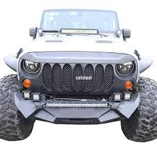 jeep wrangler front grill safaripal jeep wrangler monster angry front grille grill for 2007 20