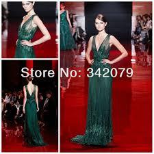 Draped Bodice Dress Aliexpress Com Buy Ph03419 Emerald Green Fully Embroidered V