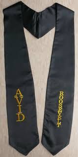 honor stoles avid roosevelt graduation stole sashes as low as 5 99 high