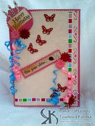 handmade birthday card name myrtle touchtalent for