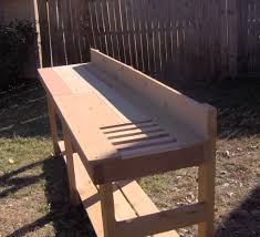 Garden Bench With Trellis by Large 8 Foot Potting Bench