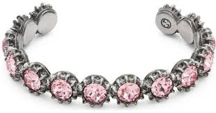 crystal pink bracelet images Lyst gucci cuff bracelet with crystals in pink jpeg