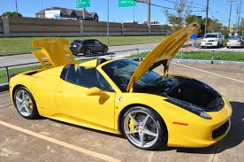 ferrari yellow 458 2013 ferrari 458 spider stock 458f13 for sale near dallas tx