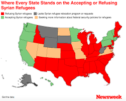 Nebraska On A Map Map Every State Accepting And Refusing Syrian Refugees