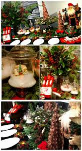 how to decorate a buffet table wonderful christmas buffet table decorations photograph table