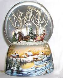buy snow globe sleigh ride together musical snowglobe