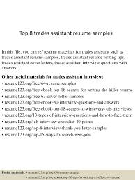 sample dispatcher resume top8tradesassistantresumesamples 150512233140 lva1 app6892 thumbnail 4 jpg cb 1431473553