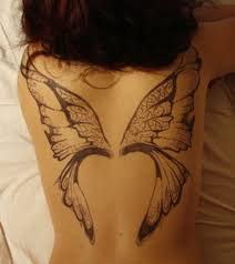 butterfly wings design for on back wing