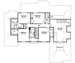 colonial style house plan 5 beds 4 00 baths 4500 sq ft plan 81 615