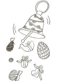 coloriage paques cloche decoree samuel pinterest