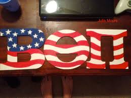 Big American Flags Hand Painted American Flag Beta Theta Pi Wooden Letters Cooler