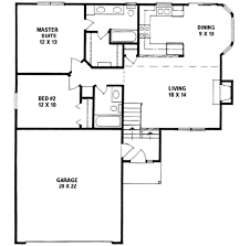 traditional style house plan 2 beds 2 00 baths 968 sq ft plan