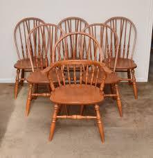 Ebth Windsor Style Chair Six Tell City Windsor Style Chairs Ebth The