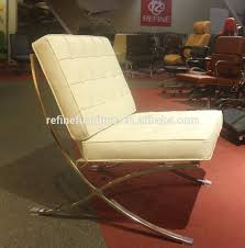 white leather barcelona chair ottoman rf s201c buy barcelona