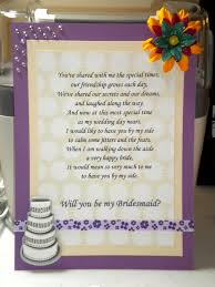 asking of honor poem poems to ask bridesmaids wedding ideas