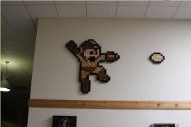artwork with wood 8 bit pixel looks great in wood