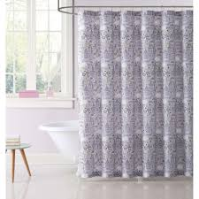 Pink And Gray Curtains Unicorn Princess Printed 72 In Pink And Grey Shower Curtain
