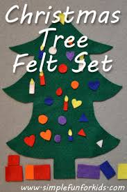 christmas tree felt set simple fun for kids
