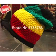 1pcs new rasta reggae knitted visor cap jamaica marley slouch tri