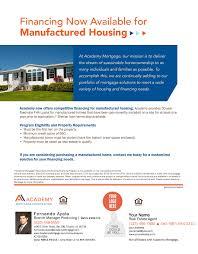 manufactured housing co branded loan program flyers