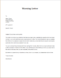 7 professional warning letter templates formal word templates
