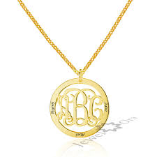 Monogram Disc Necklace Compare Prices On Engraved Silver Heart Pendant Online Shopping