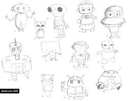 robot sketches u2013 gnomes homes jahzel misner designer