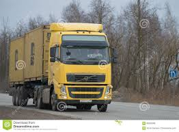 volvo semi trailer track of volvo fh 13 440 with the semi trailer container carrier