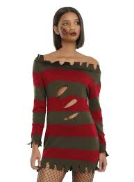 freddy krueger costume a nightmare on elm miss krueger costume hot topic