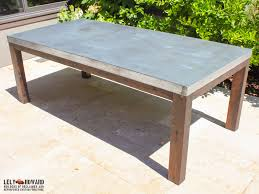 stunning metal topped dining table with riverton stainless steel