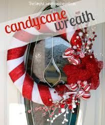 simply living candy cane wreath