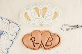 cookie cutter heart shaped cookies personalized