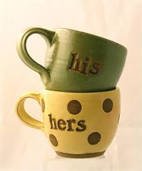 his and hers mug his and hers mugs by louise bilodeau ceramic mug artful home