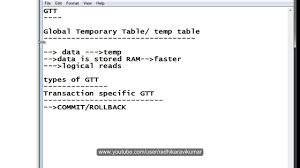 how to create temp table in sql sql global temporary table gtt part 1 youtube