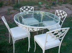 Antique Cast Iron Patio Furniture Table And Chairs Meadow Rose Pinterest Wrought Iron Iron