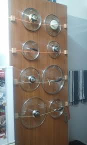 Cabinet Door Pot Lid Organizer Kitchen Pot Lid Organizer Ideas For Pots And Pans Storage Lid